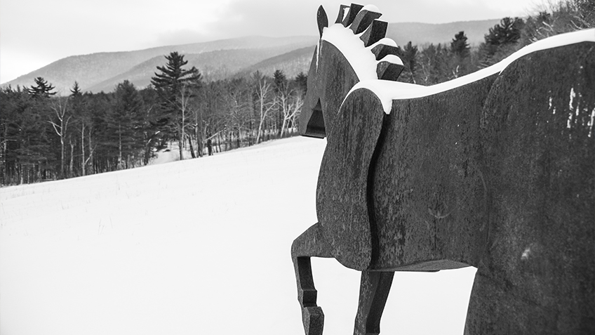 southern vermont arts center winter sculpture