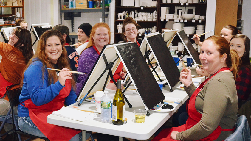 wine and painting classes manchester vermont