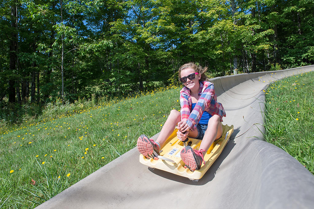 Bromley Mountain's Alpine Slide