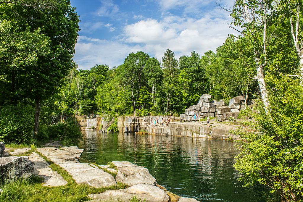Summer Dorset Quarry Swimming Hole