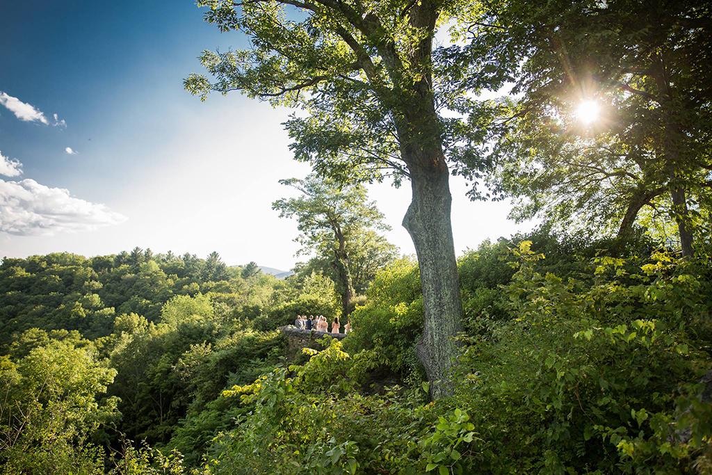 wedding view Hildene
