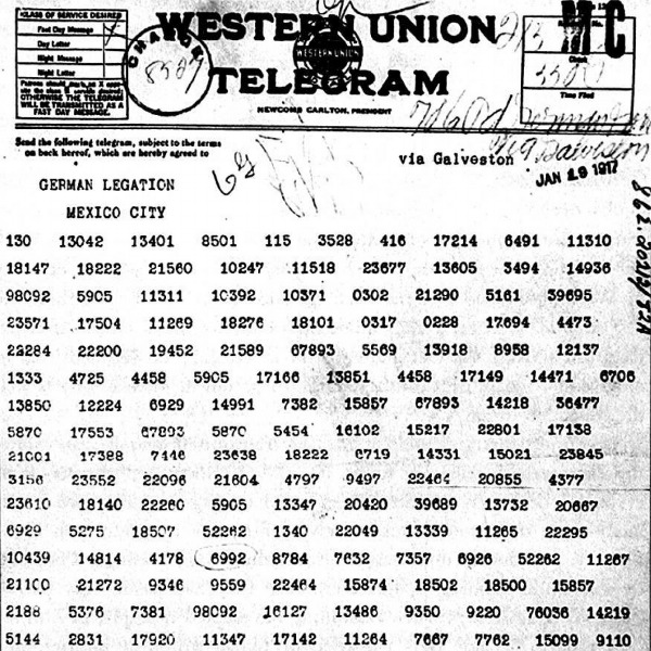 the zimmermann note The zimmerman note, or zimmerman telegram, was a coded message sent by the germans to mexico on january 16, 1917, which offered mexico us territory if it helped germany in the first world war.