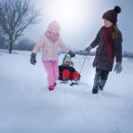 children-going-sledding-together