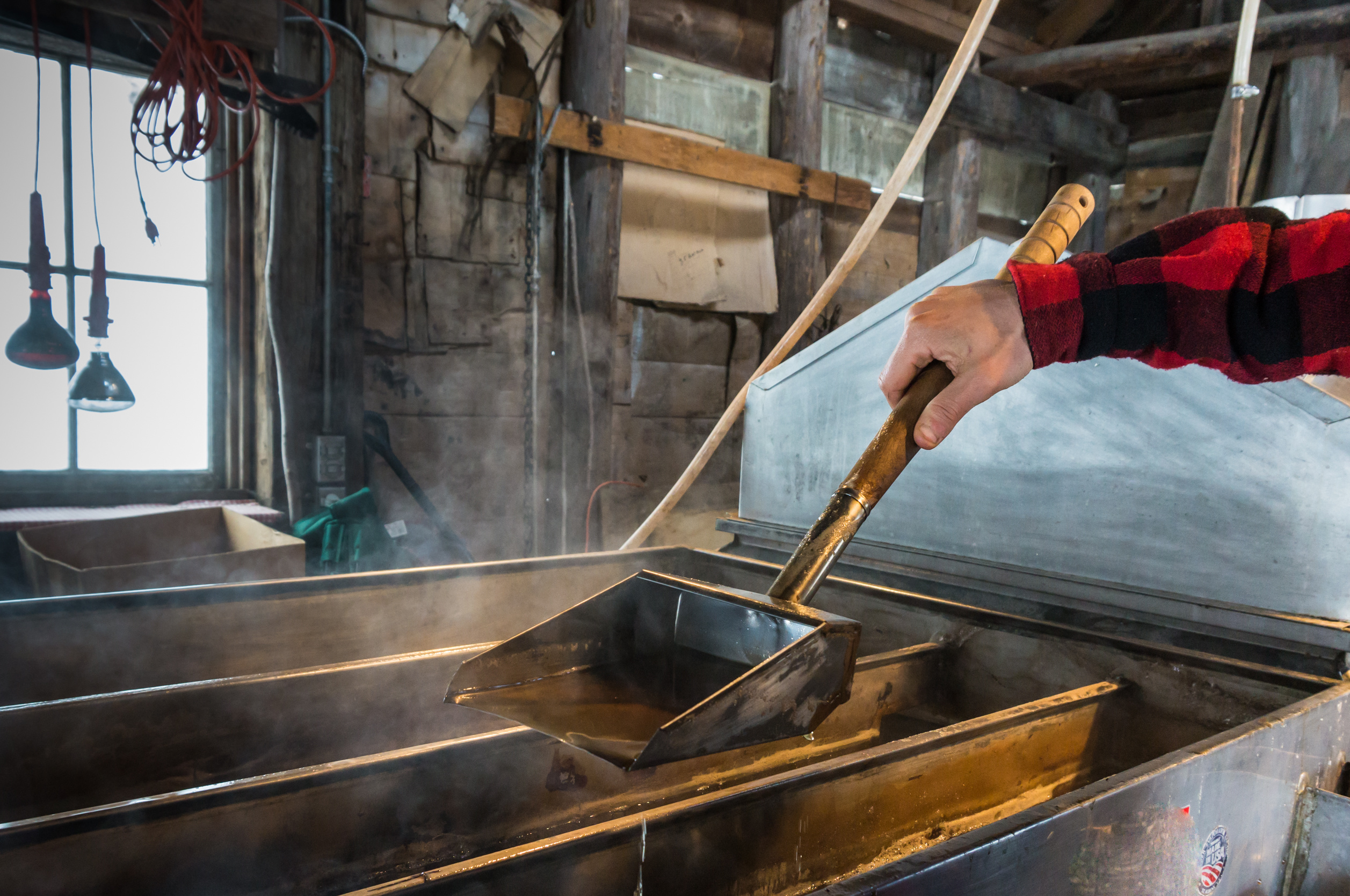 7c76b818cd3 Fun Fact  It takes more than 40 gallons of sap to make one gallon of syrup!  This is just one thing to learn from The Sugar Shack s sugarmakers