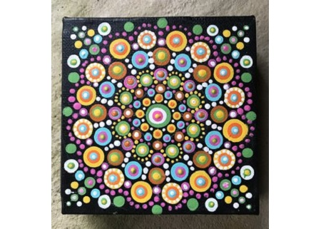 mandala dot painting � manchester vermont