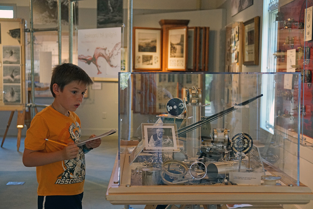 young museum visitor
