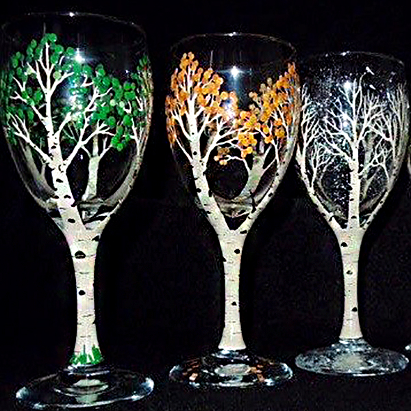 Paint Amp Sip Paint Your Own Wine Glasses Manchester Vermont