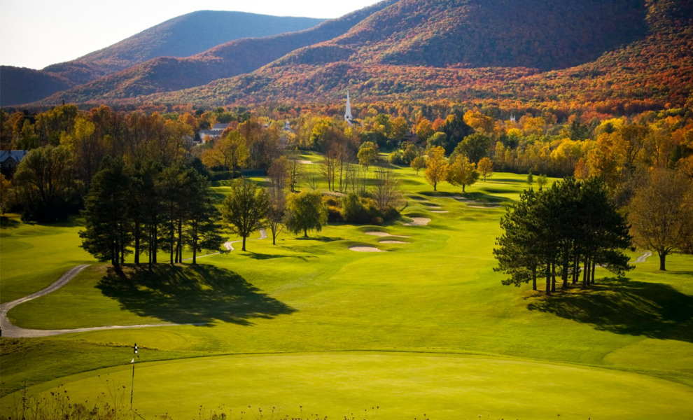 equinox resort golf in fall