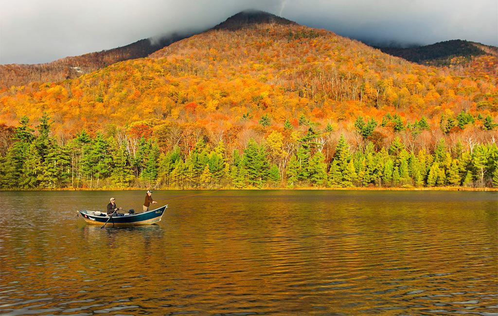 equinox pond fall boat