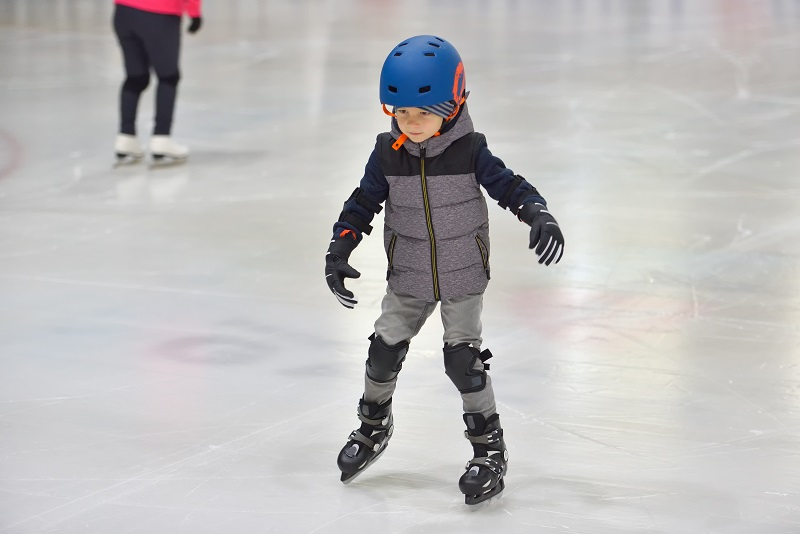boy on ice skates riley rink
