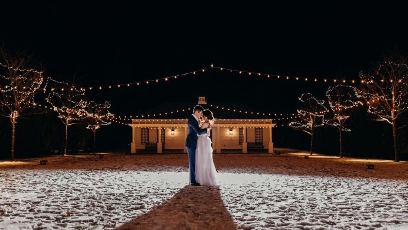 Kathleen and Matt Private Vows at Mattisons Christmas Tree Farm and Lake Shaftsbury, Shaftsbury VT