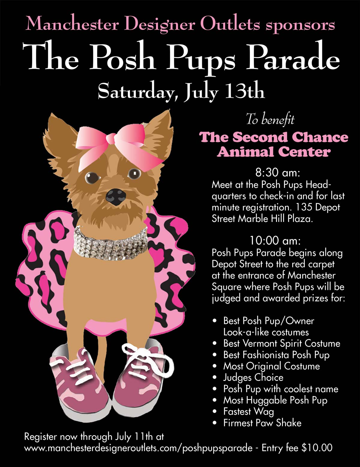 The Posh Pups Parade — Manchester Vermont